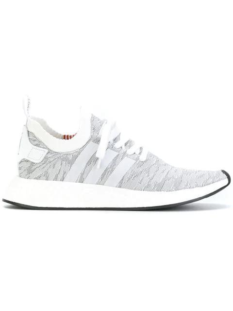 Adidas Originals Originals Leopard Nmd R2 Primeknit Sneakers In Grey Modesens