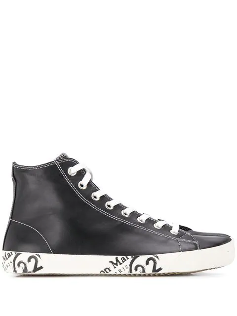 Margiela Maison Sneakers Schwarz 'tabi' In Top High Black 4jR5AL