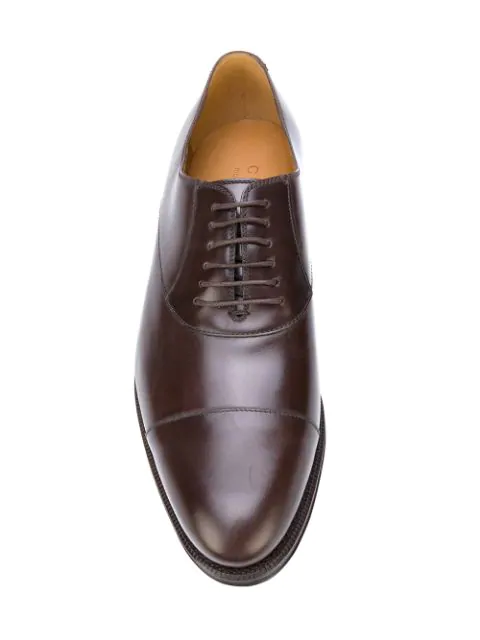 Gucci Leather Lace-Up In Brown