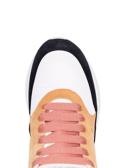 ALEXANDER MCQUEEN WHITE RUNNER LEATHER SNEAKERS