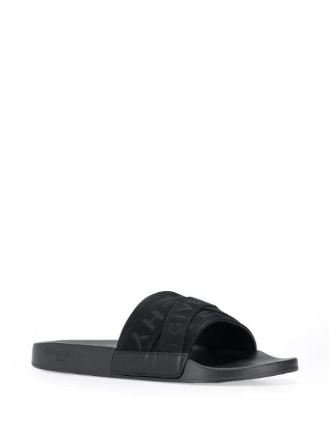 Givenchy Logo Sliders In Black