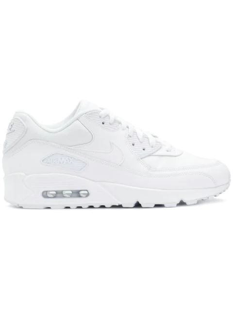 low priced 3bd22 7dc87 Men's Air Max 90 Leather Running Sneakers From Finish Line in White