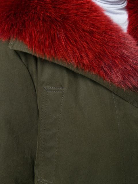 5d26c00f0 Hypolais Trench Coat W/ Fur Lining in Green
