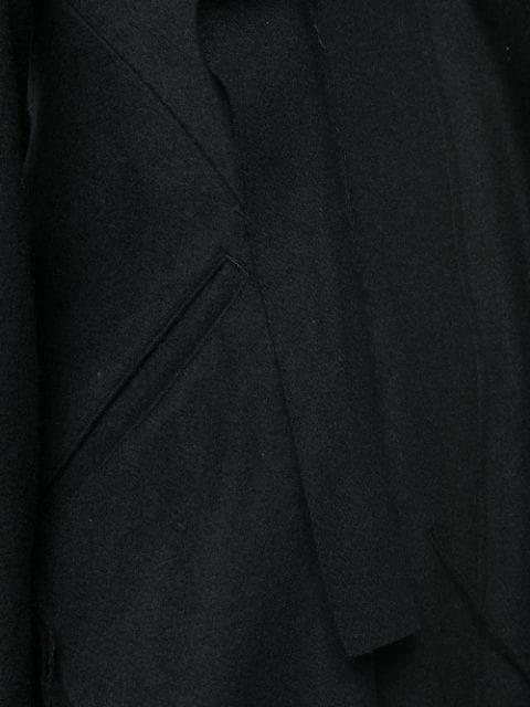 YOHJI YAMAMOTO FLARED MIDI COAT