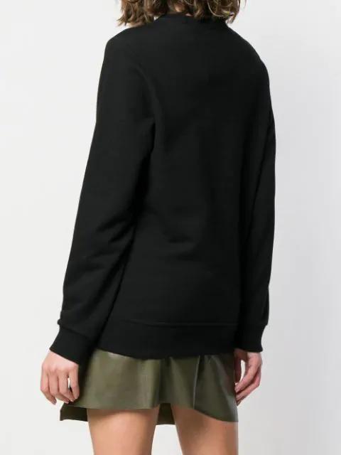 Burberry Kingdom Print Cotton Sweatshirt In Black