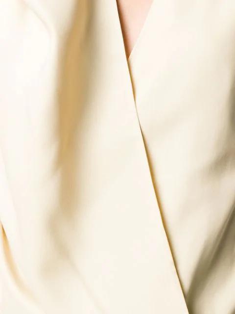 Jacquemus Asymmetric Draped Top - Neutrals