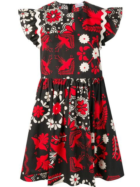 Image result for black and red bird dress""