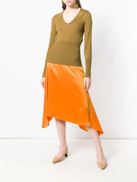 JACQUEMUS PLUNGE NECK KNITTED TOP