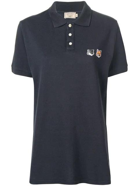 39f1fa2cb Maison Kitsuné Double Fox Head Patch Polo Shirt - Blue