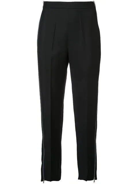 Givenchy Mohair-Wool Gabardine Wide-Leg Trousers - Black
