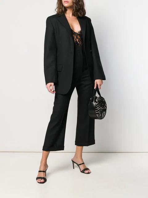 Saint Laurent Sheer Lace Camisole Top - Black