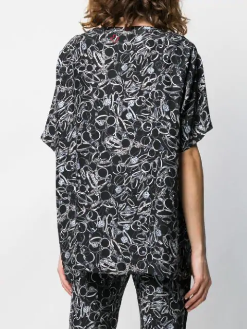 A.F.Vandevorst Graphic Print T-Shirt - Black