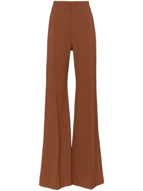 ChloÉ High-Waisted Flared Trousers - Brown