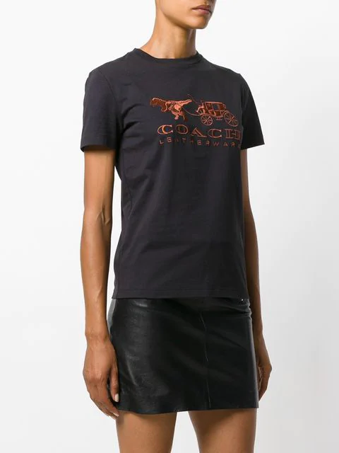 62e796df58 Rexy And Carriage Appliqué T-Shirt in Black