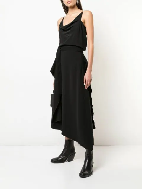 RICK OWENS DRAPED SILK TOP