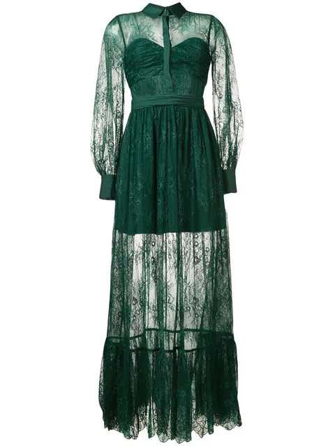 Green Sheer Gown
