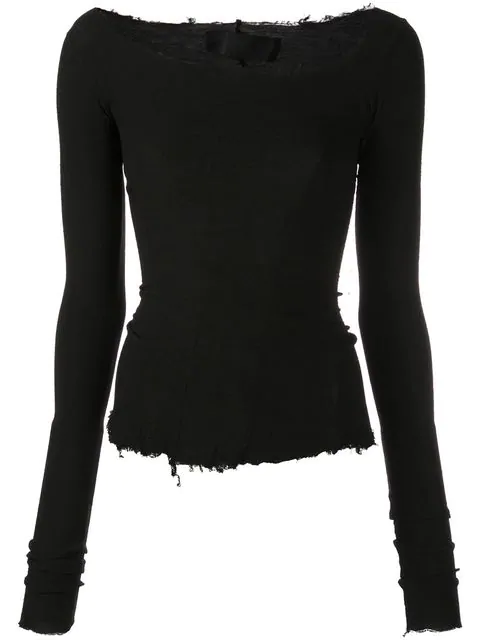 Marc Le Bihan Asymmetrisches Sweatshirt - Schwarz In Black