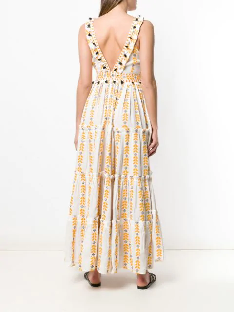 Dodo Bar Or Alicia Tiered Dress - Yellow In Colorful