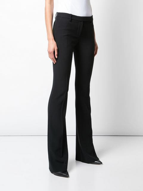 Alexander Mcqueen Tailored Bootcut Trousers - Black