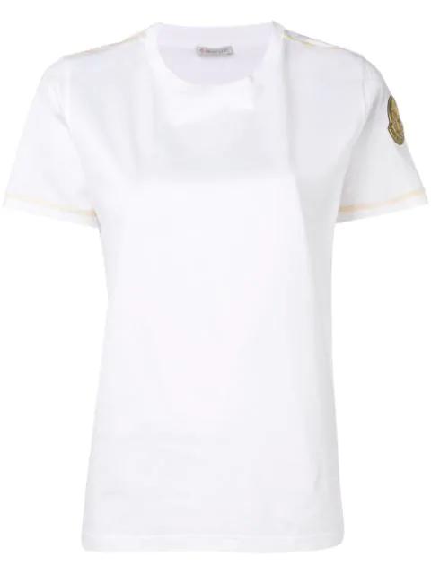 47ea70fc0 Moncler Gold Trim T-Shirt - White