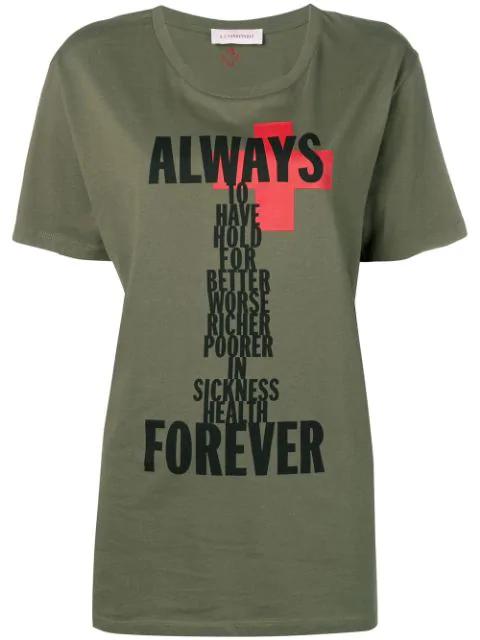A.F.Vandevorst Printed T-Shirt - Green