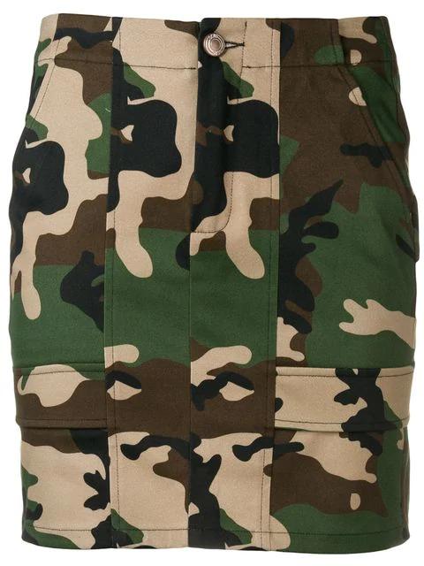 575b097f4ba6 Gcds Camouflage Print Mini Skirt - Green