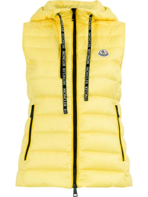 aa589efa6 Sucrette Quilted Nylon Down Vest in Yellow