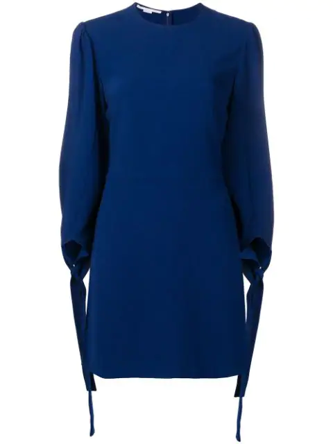 f06a32d0759ab Stella Mccartney Tie Cuff Dress - Blue In 4260 Navy | ModeSens