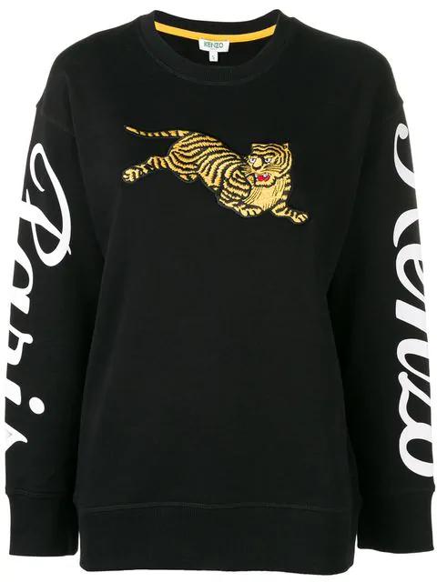 2a7e1e1f Kenzo Tiger Logo Print Sweatshirt - Black