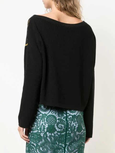 N°21 GRAPHIC KNIT TOP