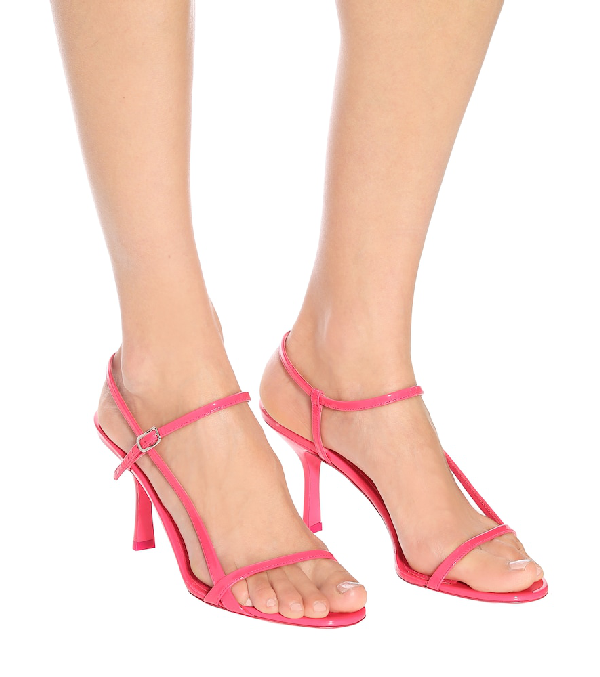 Prada Patent Leather Sandals In Pink