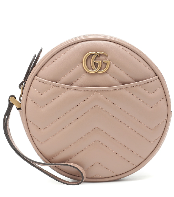 GUCCI GG MARMONT SMALL LEATHER CLUTCH,P00398967