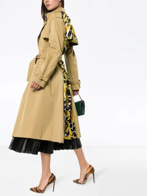 VERSACE DOUBLE-BREASTED BELTED TRENCH COAT