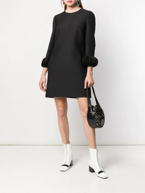 VALENTINO ORNAMENTAL SLEEVE DRESS