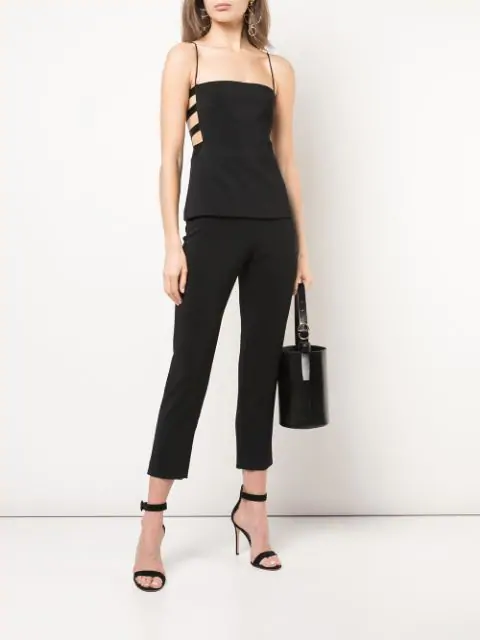 Cushnie High-Waist Cropped Slim Pants In Black