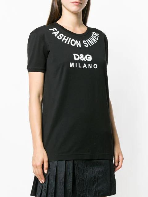 254d65486 Fashion Sinner Crewneck Short-Sleeve Jersey T-Shirt in Black