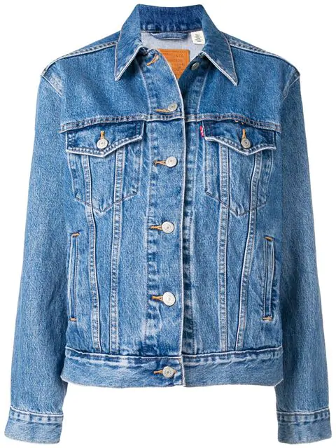 best website e8479 751f6 Levi's 'Ex Boyfriend' Jeansjacke - Blau in Blue