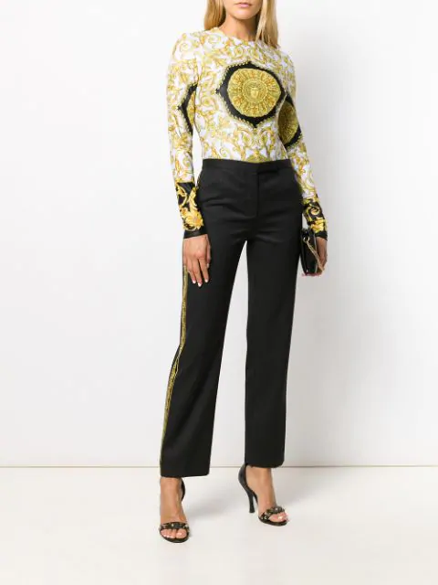 Versace Baroque Print Trousers - Black