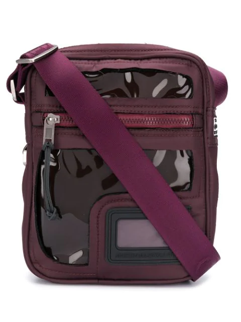 Clear Messenger Bag In Purple