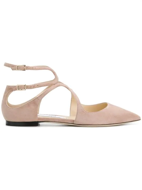 433a250a6 Jimmy Choo Lancer Flat Ballet Pink Suede Pointy Toe Flats   ModeSens