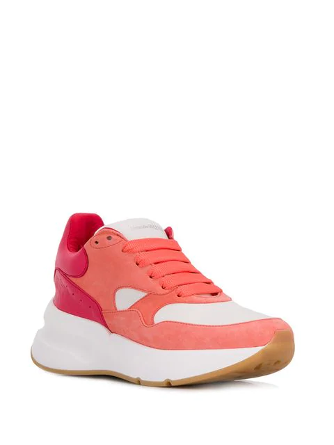 Alexander Mcqueen Suede And Leather Exaggerated-Sole Sneakers In White