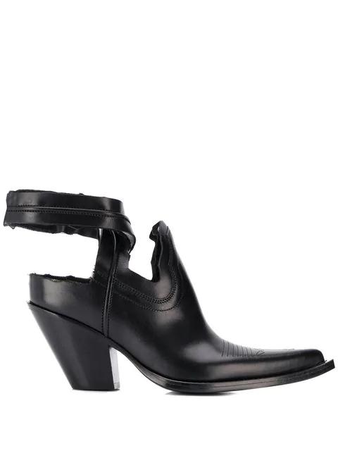 743d00c931b Maison Margiela Texan Cut-Out Ankle Boots - Black