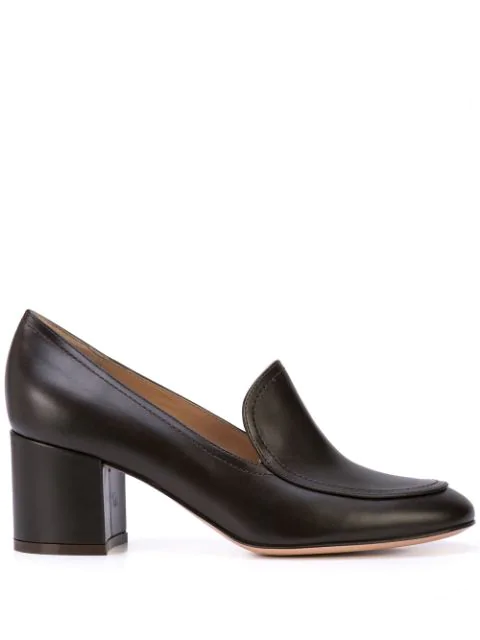 46b74f4a Gianvito Rossi Mid-Heel Loafers - Brown in Mocha