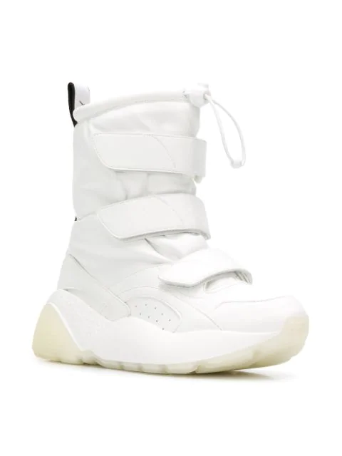010a17592a611 Stella Mccartney Eclypse Logo-Woven Faux Leather Snow Boots In White ...
