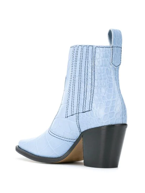 dfb6b3033a7 Callie Croc-Embossed Ankle Boots in 694 Heather