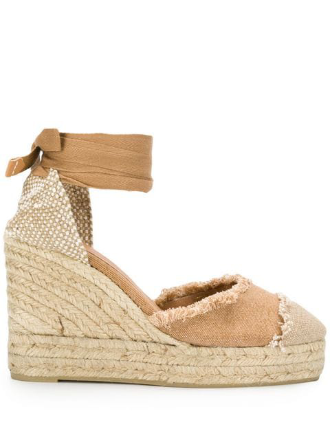 0265645855b Castañer Catalina Wedge Sandals - Neutrals
