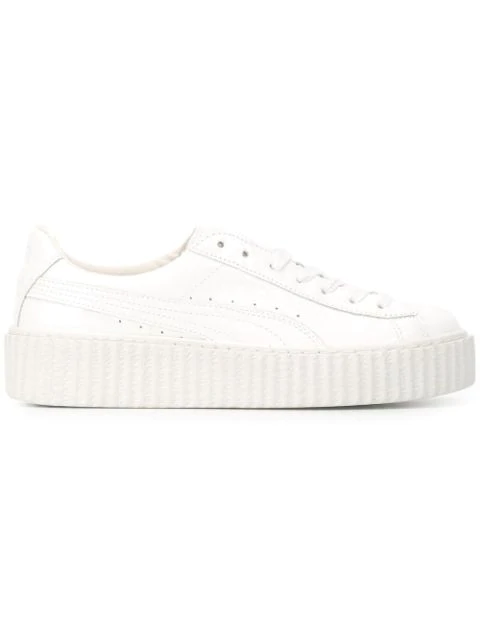 Fenty Puma X Rihanna Creeper Sneakers In White
