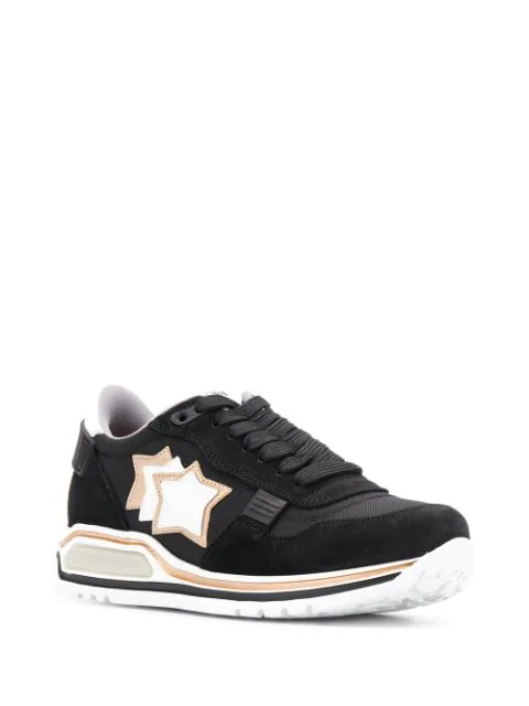 Atlantic Stars Star Patch Sneakers - Black