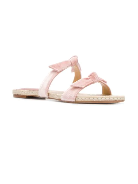 Alexandre Birman Flat Slide Sandals - Pink