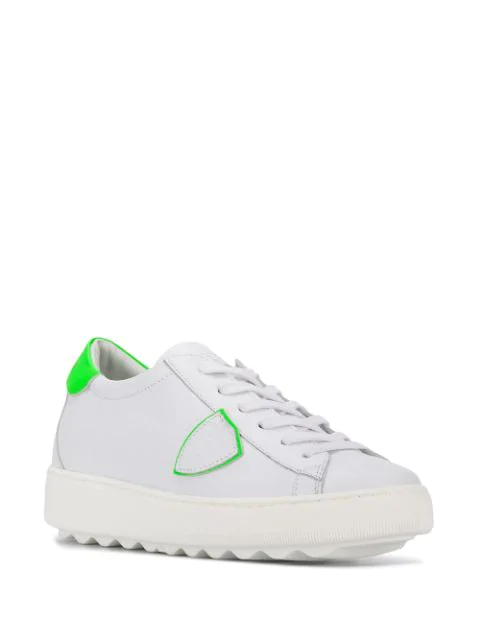 Philippe Model Temple Sneakers Femme White wZkOPuTXi